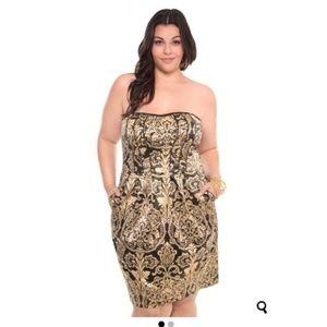 Torrid Strapless Cocktail Dress Size 16